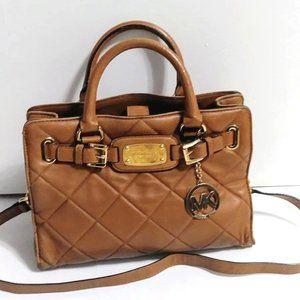 MICHAEL KORS Leather signature purse Tan bag